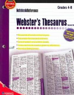Webster's Thesaurus: Grades 4-8 (Paperback)
