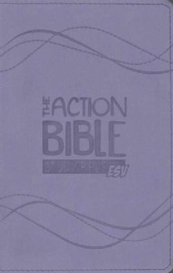 The Action Bible Study Bible: English Standard Version, Lavender, Virtual Leather, Premium Edition (Paperback)
