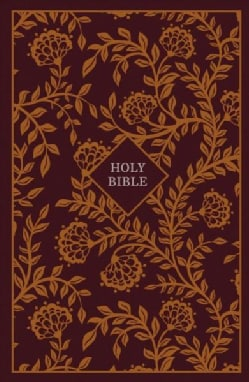 Holy Bible: King James Version, Thinline Reference, Burgundy/orange, Red Letter Edition (Hardcover)