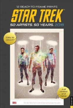 Star Trek 2018 Poster Calendar: 50 Artists. 50 Years. (Calendar)