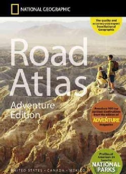 National Geographic Road Atlas - Adventure Edition (Sheet map)