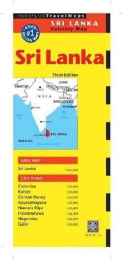 Periplus Travel Maps Country Map Sri Lanka (Sheet map, folded)