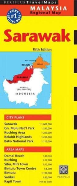 Periplus Travel Map Sarawak: Malaysia (Sheet map, folded)
