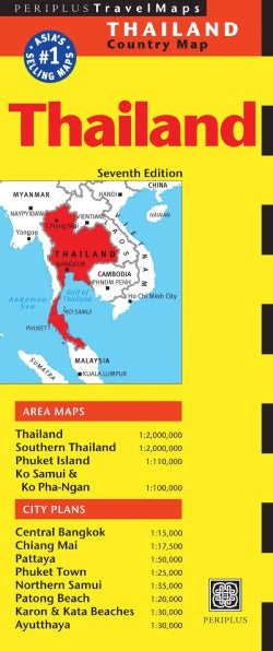 Periplus Travel Maps Thailand (Sheet map, folded)