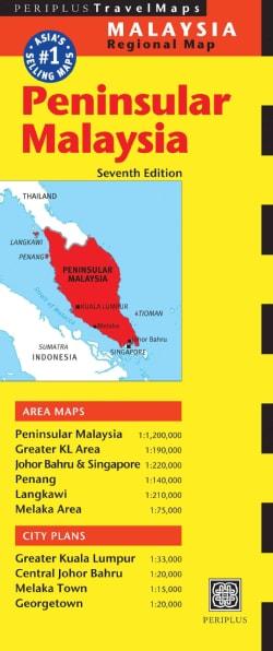 Periplus Peninsular Malaysia Regional Map (Sheet map, folded)