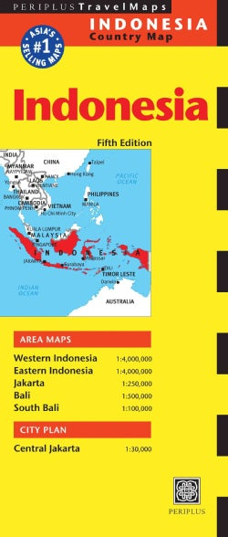Periplus Travelmaps Indonesia Country Map (Sheet map, folded)