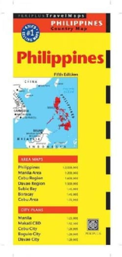 Periplus Travel Map Philippines Country Map (Sheet map, folded)