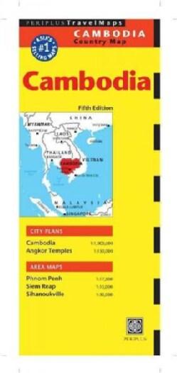 Periplus Travel Map Cambodia (Sheet map, folded)