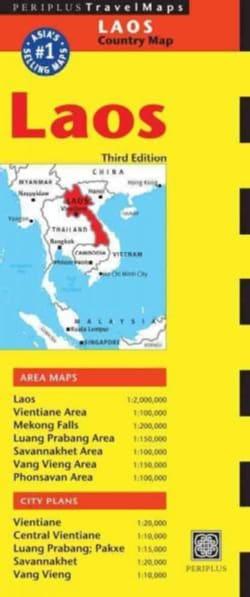 Periplus Travel Maps Laos (Sheet map, folded)