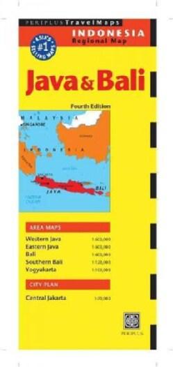 Periplus Travel Maps Java & Bali: Indonesia Regional Map (Sheet map, folded)