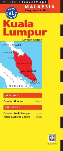 Periplus Travel Map Kuala Lumpur Malaysia (Sheet map, folded)