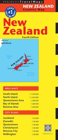 Periplus Travel Map New Zealand (Sheet map, folded)