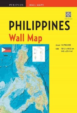 Philippines Wall Map: Scale: 1:1,750,000; Unfolds to 40 X 27.5 Inches (101.5 X 70 Cm) (Sheet map, folded)