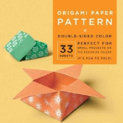 """Origami Paper Pattern 6 3/4"""" 33 Sheets: Double-sided Color (Paperback)"""