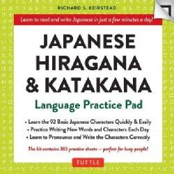 Japanese Hiragana & Katakana Language Practice Pad (Cards)