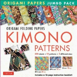Origami Paper Jumbo Pack: Kimono Patterns; 300 Folding Sheets in 3 Sizes - 6 Inch; 6 3/4 Inch and 8 1/4 Inch