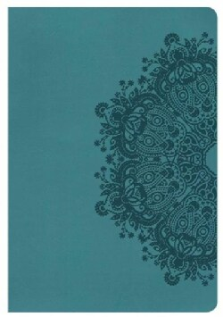 Holy Bible: New King James Version, Giant Print Reference Bible, Teal Leathertouch (Paperback)