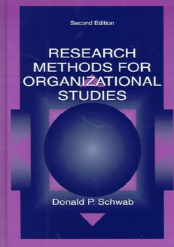 Research Methods for Organizational Studies (Hardcover)