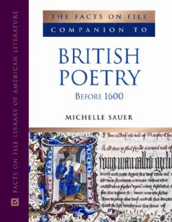 The Facts on File Companion to British Poetry Before 1600 (Hardcover)