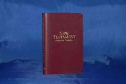 Vest-Pocket New Testament: King James Version, Burgunday Imitation Leather, Psalms & Proverbs (Paperback)