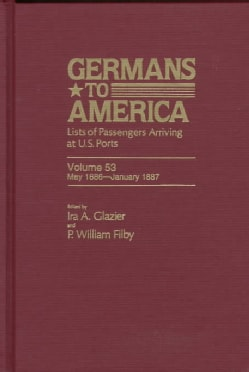 Germans to America: Lists of Passengers Arriving at U.S. Ports : May 1886-January 1887 (Hardcover)