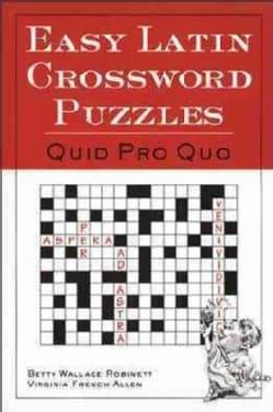 Easy Latin Crossword Puzzles: Quid Pro Quo (Paperback)