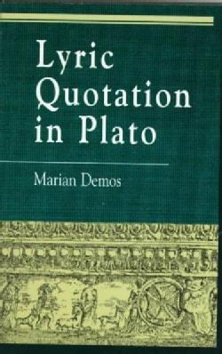 Lyric Quotation in Plato (Paperback)