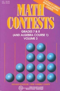 Math Contests - Grades Seventh and Eighth: School Years : 1991-92 Through 1995-96 (Paperback)