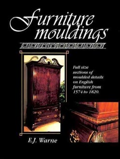 Furniture Mouldings: Full Size Sections of Moulded Details on English Furniture from 1574 to 1820 (Paperback)