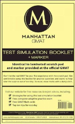 Manhattan GMAT Test Simulation Booklet (Other book format)