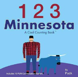 1 2 3 Minnesota: A Cool Counting Book (Board book)