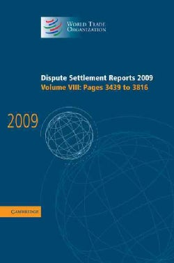 Dispute Settlement Reports: 2009 (pages 3439-3816) (Hardcover)