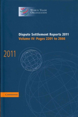 Dispute Settlement Reports 2011: Pages 2201-2866 (Hardcover)