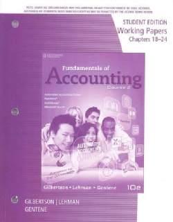Fundamentals of Accounting Course 2: Chapters 18-24 (Paperback)