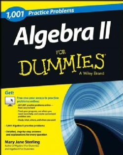 1,001 Algebra II Practice Problems for Dummies (Paperback)