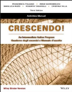 Crescendo, Binder Ready Version: An Intermediate Italian Program, Activities Manual (Paperback)