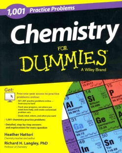 1,001 Chemistry Practice Problems for Dummies (Paperback)