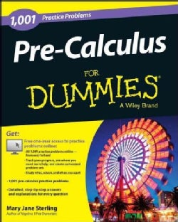 1,001 Pre-Calculus Practice Problems for Dummies (Paperback)