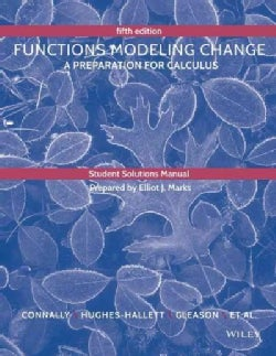 Functions Modeling Change: A Preparation for Calculus (Paperback)
