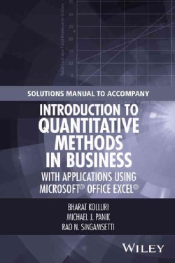 Introduction to Quantitative Methods in Business: With Applications Using Microsoft Office Excel (Paperback)