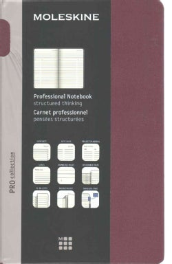 Moleskine Pro Collection Notebook: Large, Plum Purple (Notebook / blank book)