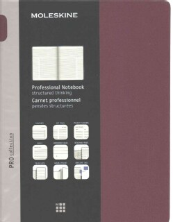 Moleskine Pro Collection Notebook: Extra Large, Plum Purple (Notebook / blank book)