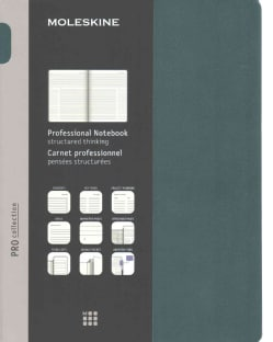 Moleskine Pro Collection Notebook: Extra Large, Tide Green (Notebook / blank book)
