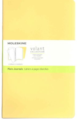 Moleskine Volant Journal - Set of 2: Large, Plain, Sunflower Yellow, Brass Yellow (Notebook / blank book)