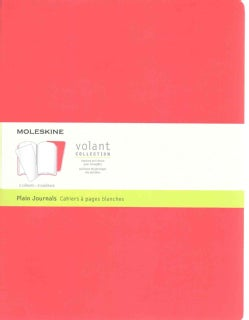Moleskine Volant Journal - Set of 2: Extra Large, Plain, Geranium Red, Scarlet Red (Notebook / blank book)