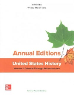 Annual Editions United States History: Colonial Through Reconstruction (Paperback)