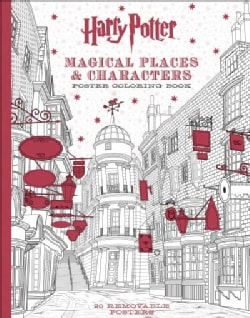 Harry Potter Magical Places & Characters Poster Coloring Book (Paperback)