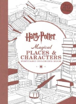 Harry Potter Magical Places & Characters Postcard Coloring Book (Paperback)
