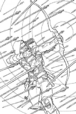 Green Arrow Coloring Book (Paperback)