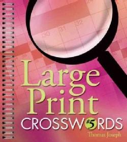 Large Print Crosswords 5 (Paperback)